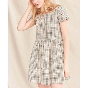 plaid babydoll dress